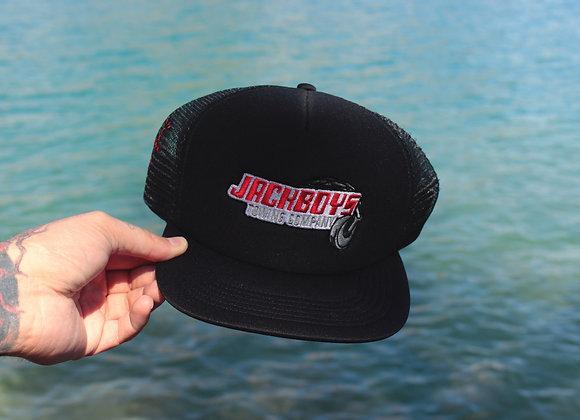 Travis Scott JACKBOYS Repo Trucker Hat Black