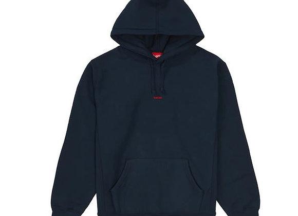 Supreme Micro Logo Hooded Sweatshirt Navy