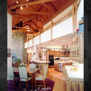 Open Beam Ceiling Promotes a Modern Country Feel