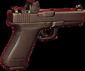 Glock Pistol - Slight Angled Lateral Vie