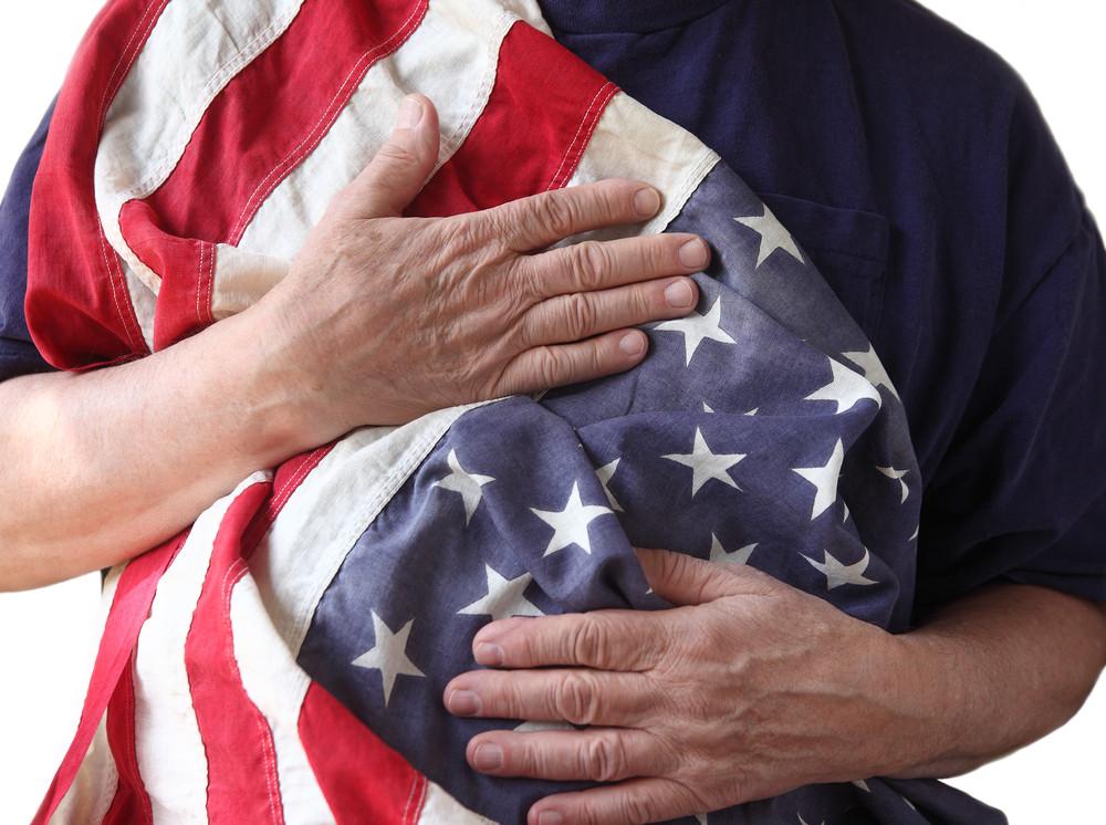 Veteran Cherishes the American Flag