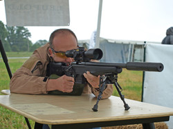 Precision Rifle Shooter from Bench