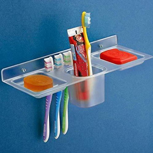 0756_Plastic 4 in 1 Kitchen/Bathroom/Paste-Brush Stand/Soap Stand