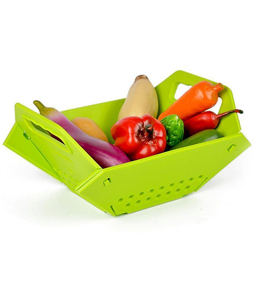 0704 -3 in 1 Fruit & Vegetable Chopping Board Wash Folding Basket