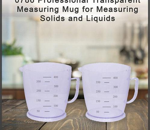 0786 Professional Transparent Measuring Mug for Solids and Liquids - Pack of 2