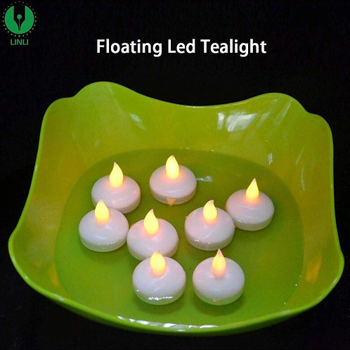 Waterproof Automatic LED Floating Multi Colour 12 Piece /Box Candle Diya