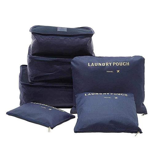 0192 Cloth Organizer Pouch Laundry Zipper Bags (6 pcs)