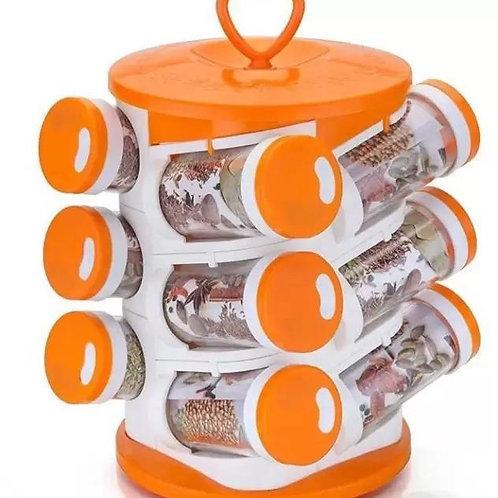 2036 Spice jar Set - Food Grade Plastic 12pcs Spice jar