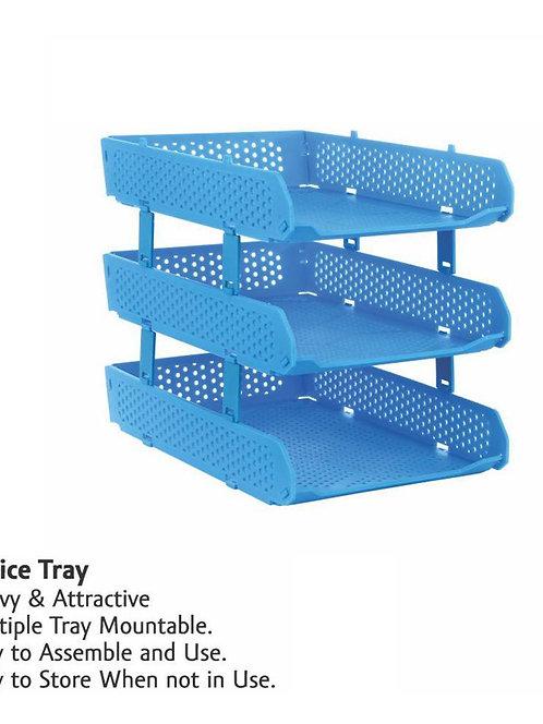 0329 Foldable Tray Desk Organizer File Tray, Magazine Holder Rack, Document Tray