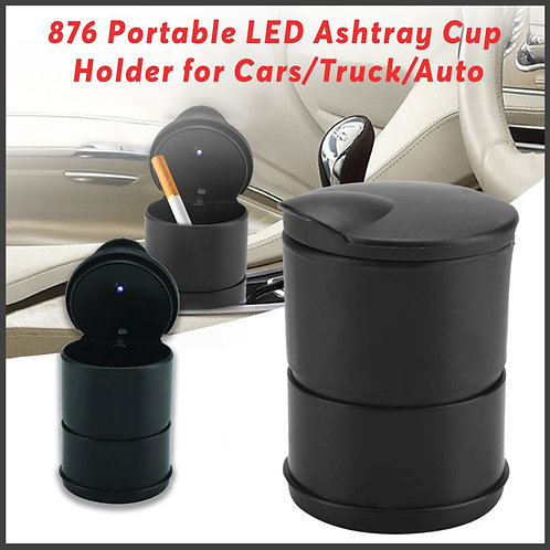 0876 Portable LED Ashtray Cup Holder for Cars/Truck/Auto