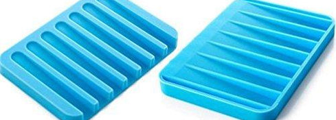 0810 Silicone Soap Holder Soap Dish Stand Saver Tray Case for Shower