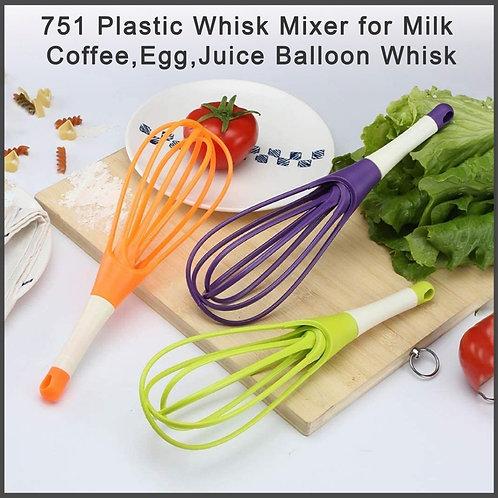 0751_Plastic Whisk Mixer  for Milk,Coffee,Egg,Juice Balloon Whisk