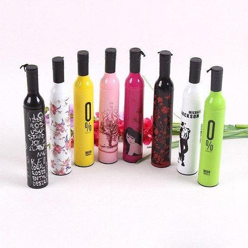 0518 Pocket Folding Wine Bottle Umbrella