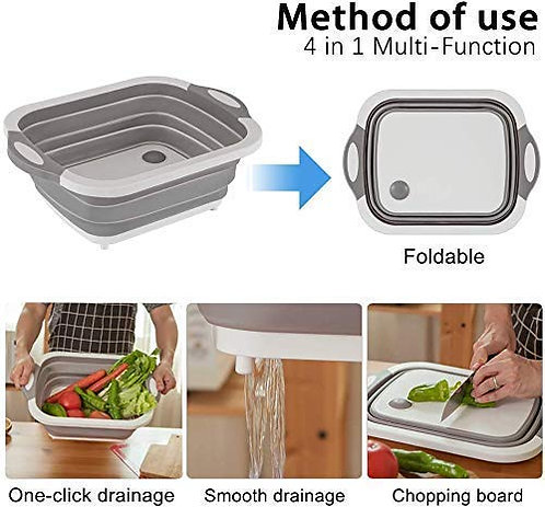 4 in 1 Chopping Board, Multifunction, Kitchen Fruit Vegetable Washing