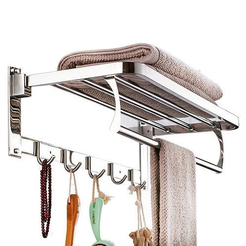 0314 Bathroom Accessories Stainless Steel Folding Towel Rack