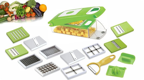 14 in 1 Vegetable & Fruits Cutter, Slicer, Dicer Grater & Chopper, Peeler