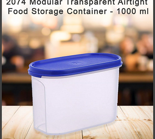 2074 Modular Transparent Airtight Food Storage Container - 1000 ml