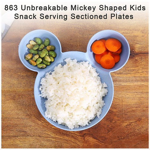0863 Mickey Shaped Snack Serving Plates (Assorted Colors) (Pack of 1)