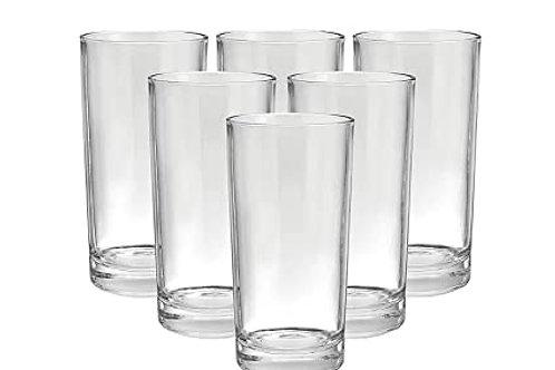 2027 Plastic Stylish look fully Transparent Glasses Set 300ml (6pcs)