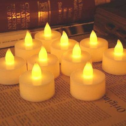 1222  Festival Decorative - LED Tealight Candles (White, 24 Pcs)