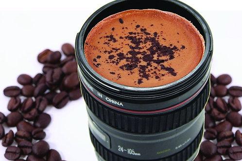 0720 Camera Lens Shaped Coffee Mug Flask With Lid