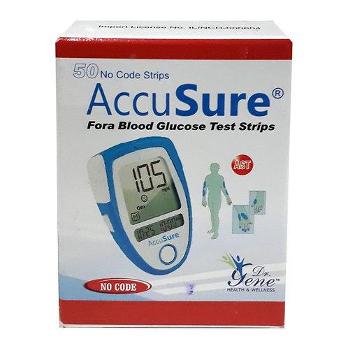 AccuSure Blood Glucose Monitor System Sugar Meter