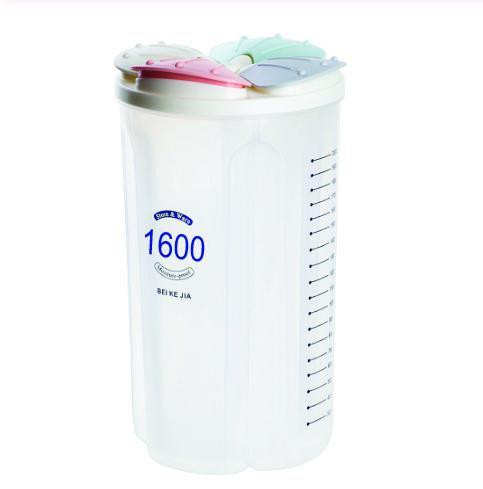 0788 4 in 1 Transparent Air Tight Storage Dispenser Container (1600 ml)