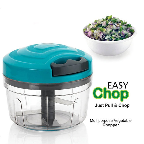 0753_Manual Food Chopper, Compact & Powerful Hand Held Vegetable Chopper/Blender
