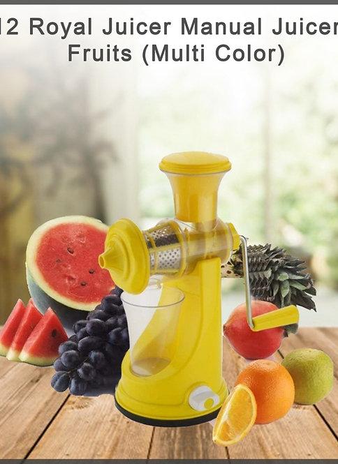 2012_Royal Juicer Manual Juicer for Fruits  (Multi Color)