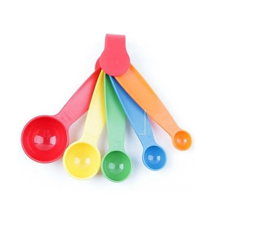 0730 Plastic Measuring Spoons - Set of 5