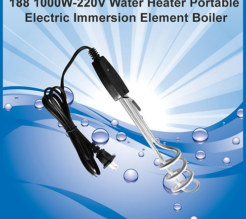 0188 1000W-220V Water Heater Portable Electric Immersion Element Boiler