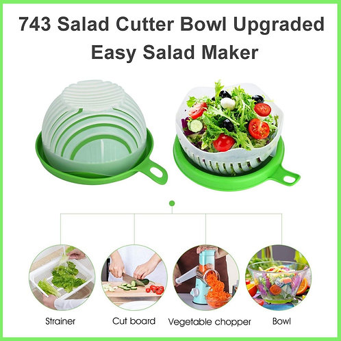 0743 Salad Bowl, Fast Fruit Vegetable Salad Chopper Bowl Fresh Salad Slicer