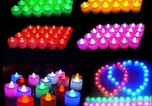 0241 Festival Decorative - LED Tealight Candles (Multi, 24 Pcs)