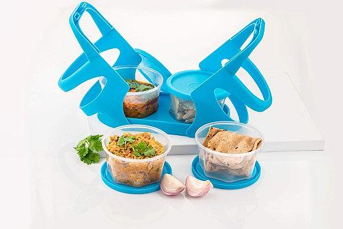 Lunch Box 4 Set, Plastic 200 ML Lunch, Kitchen Storage