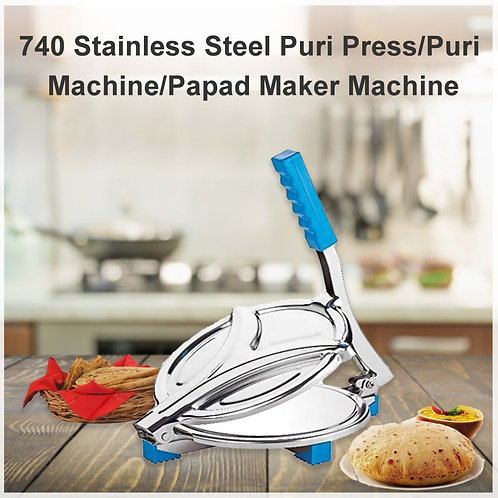 0740 Stainless Steel Puri Press/Puri Machine/Papad Maker Machine