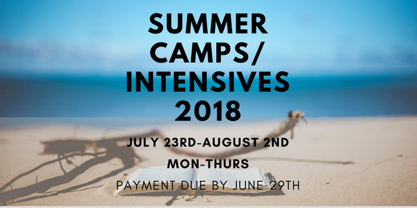 Summer Camps_Intensives 2018