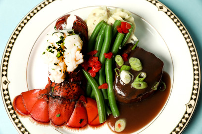 Petite Filet Mignon paired with Main Lobster Tail (GF)