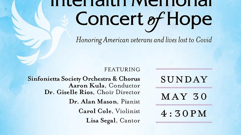 Interfaith Memorial Concert of Hope | Concierto conmemorativo interreligioso de la esperanza