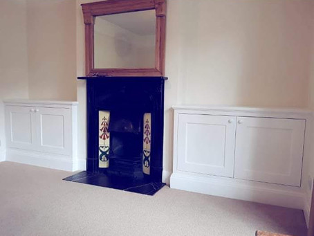 Built in alcove cupboards