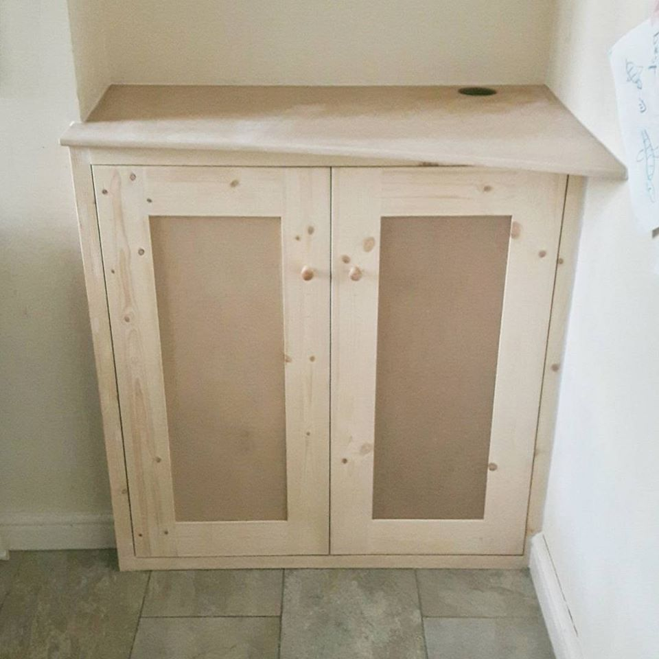 Bespoke built in cupboard.