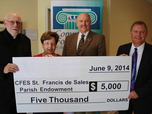 St. Francis de Sales Parish Establishes Endowment Fund at Community Foundation