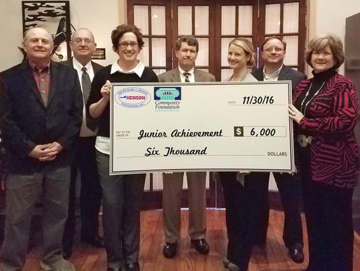 Foundations Support Junior Achievement Youth Philanthropy Project