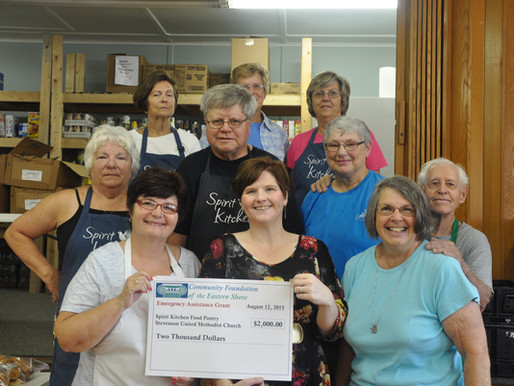 Spirit Kitchen Food Pantry Receives $2,000 from Community Foundation
