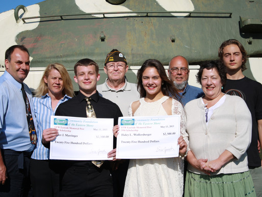 Community Foundation's VFW Eastside Memorial Post 2996 Scholarship Awarded to Parkside High Scho