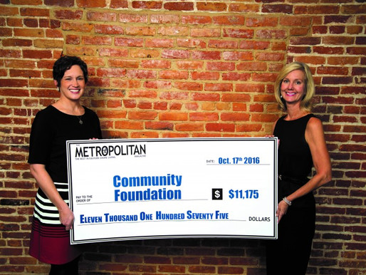 Metropolitan Magazine Contributes to Community Needs Fund