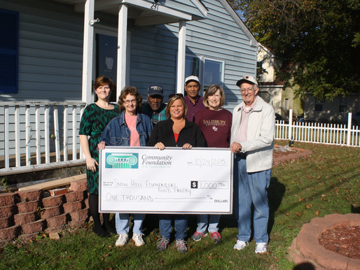 Community Foundation grants $1000 to Snow Hill Ecumenical Food Pantry