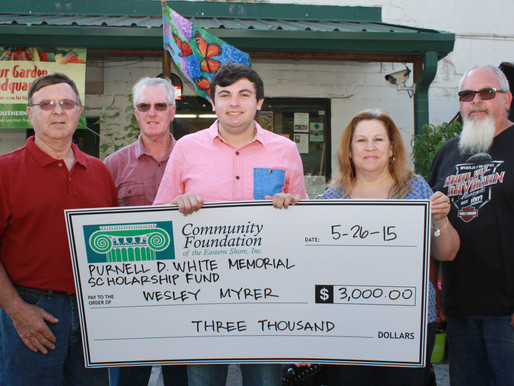Community Foundation's Purnell D. White Memorial Scholarship Fund Awarded to Parkside High Schoo
