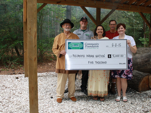Pocomoke Indian Nation Receives $5,000 from Community Foundation