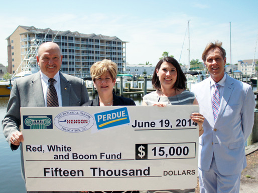 Area Foundations Present $15,000 to Red, White and Boom