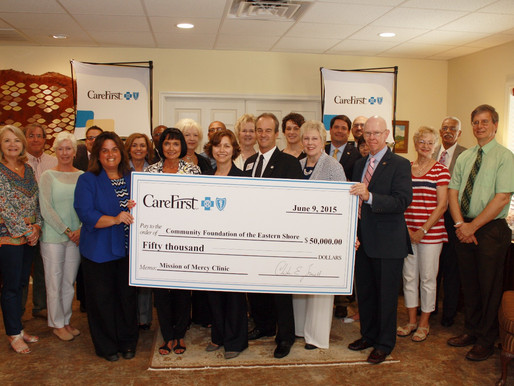 Community Foundation's Mission of Mercy Fund Receives $50,000 from CareFirst